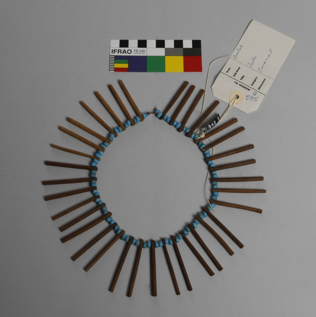 Necklet from the Franz Mayr Collection at the KwaZulu-Natal Museum. Photo courtesy of the FHYA.