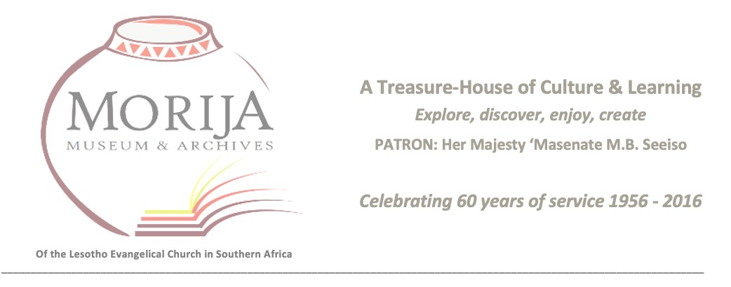 Morija Museum and Archives logo and banner. Image courtesy of the Morija Museum and Archives.
