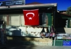 Public display of the Turkish flag, a common sight today on shops and houses.